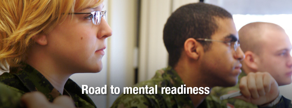 Slide - Members: Prepare your mind for a military career. Road to Mental Readiness (R2MR).