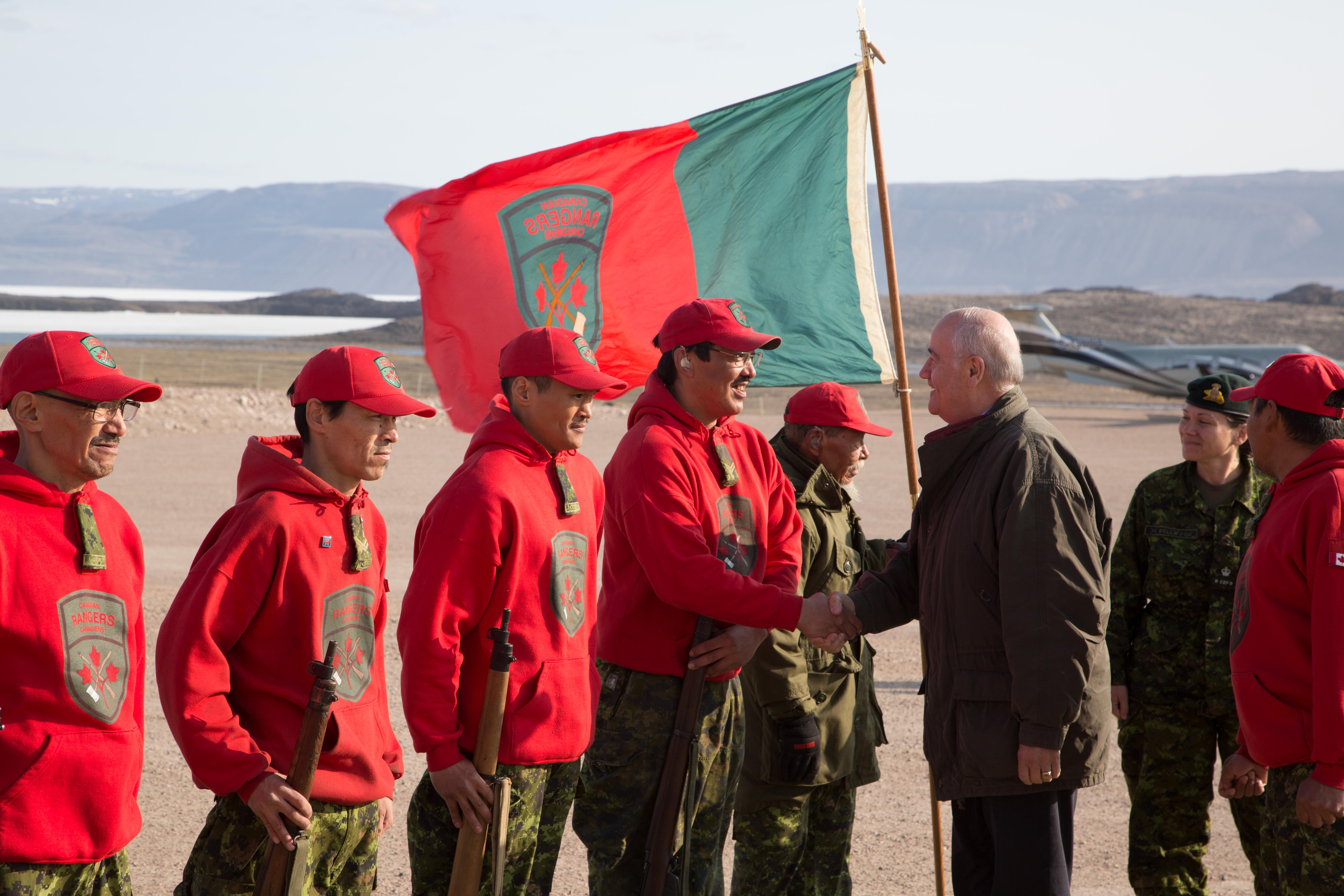 Julian Fantino, Associate Minister of National Defence, met with Canadian Rangers